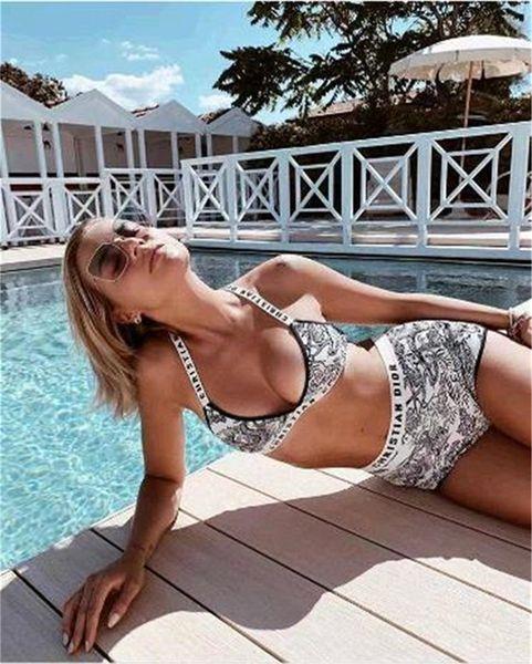 Discount Cheap 2020 sexy bikini drill new three point swimsuit split style swimsuit women Bikini swimming,Sports swimwear flexible stylish