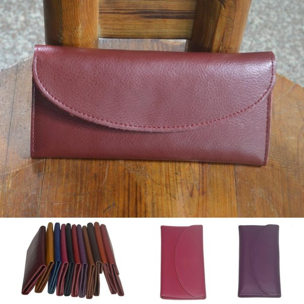 simple woman smart purse cartera larga delgada de cuero genuino (482276838) photo