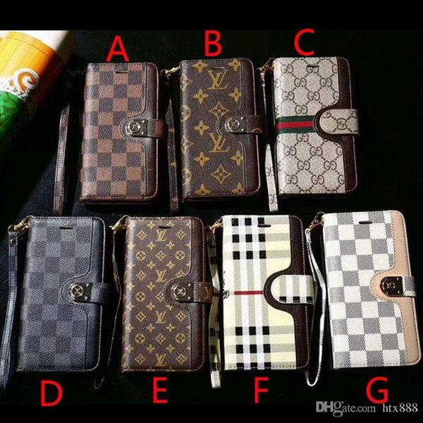 Brand de ign flip wallet leather ca e phone ca e cover for iphone x  max xr x 7 7plu  8 8plu  6 6plu  with card  lot