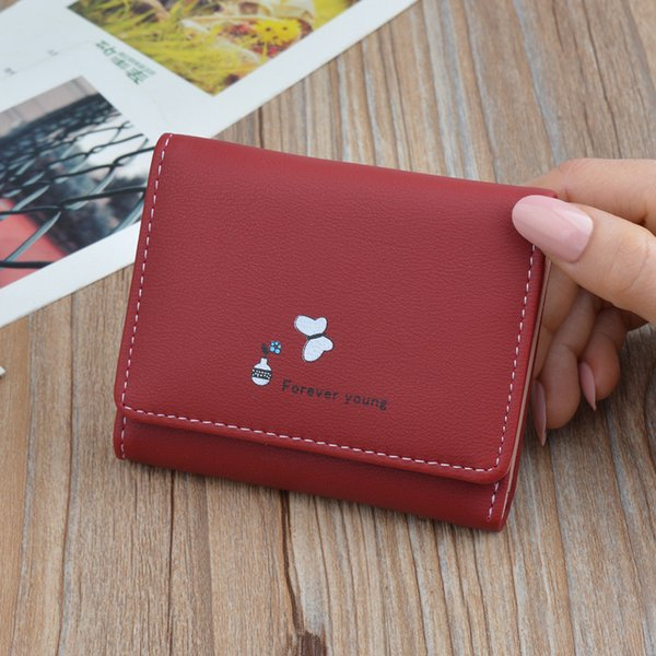 new fashion leather women wallets small card holder purses female wallet with coin pocket girl wallet (478709875) photo