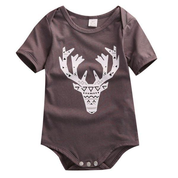 baby kids boys girls infant fashion romper jumpsuit bodysuit cotton deer clothes outfits