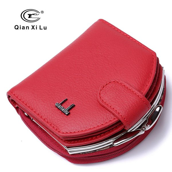 mini lady semicircle purse leather lady zipper buckle cowhide purse multi-card lady's change (466240346) photo
