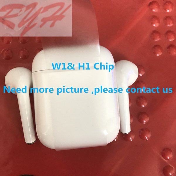 10 pc  w1   h1 chip double ear earphone head et alrpod  work  touch voice control headphone for io  android airpod