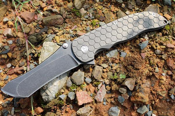 U local hipping cu tom made grim mo knive nor eman bÖhler m390 blade honeycomb titanium handle tactical folding knife waterproof box nib