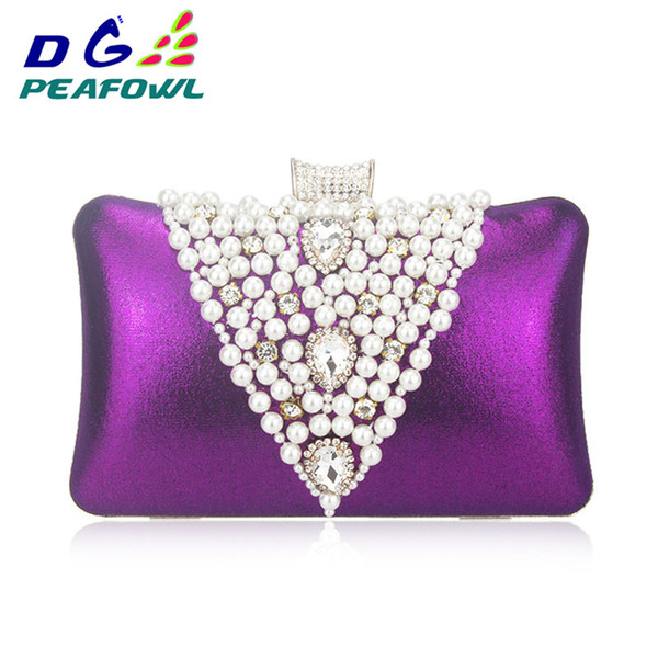 luxury handbags women bags designer women's pearl beaded purses handmade wedding wallet beige hasp toiletry evening clutch bags (487353765) photo