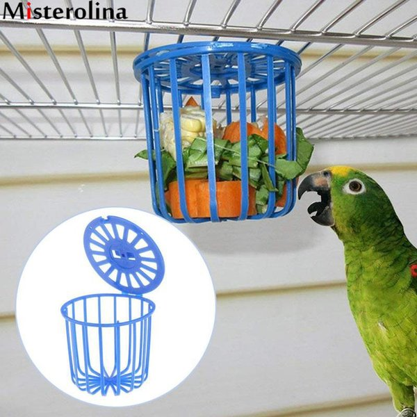 bird parrot feeder cage fruit vegetable holder cage accessories hanging basket container toys pet parrot feeder supplies (521251358) photo