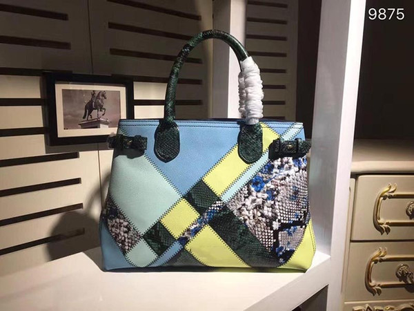designer-the banner designer luxury handbag purse genuine leather women fashion totes purses colorful ladies purses bag (516702805) photo