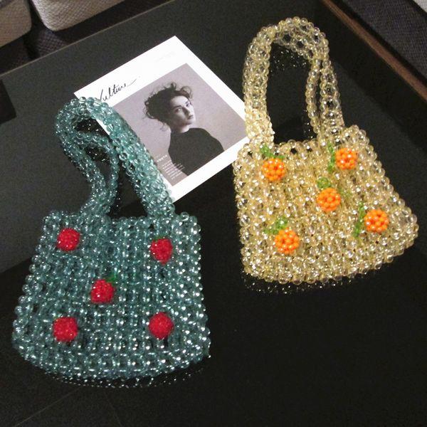 colour pearl evening bag women handmade pearl beaded small designer party purses ladies cute handbag wedding party (532781987) photo