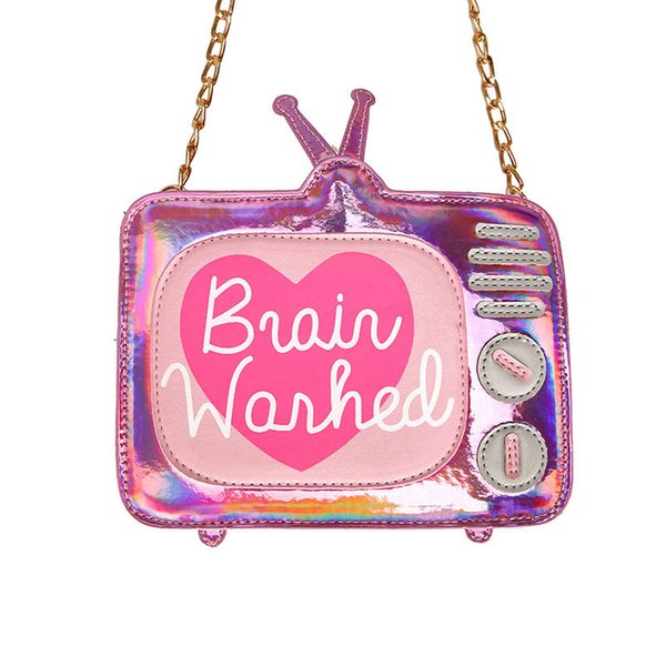 laser cartoon tv bags women's handbag letters mini purse bag girl's shoulder bag ladies crossbody messenger bags (500563175) photo
