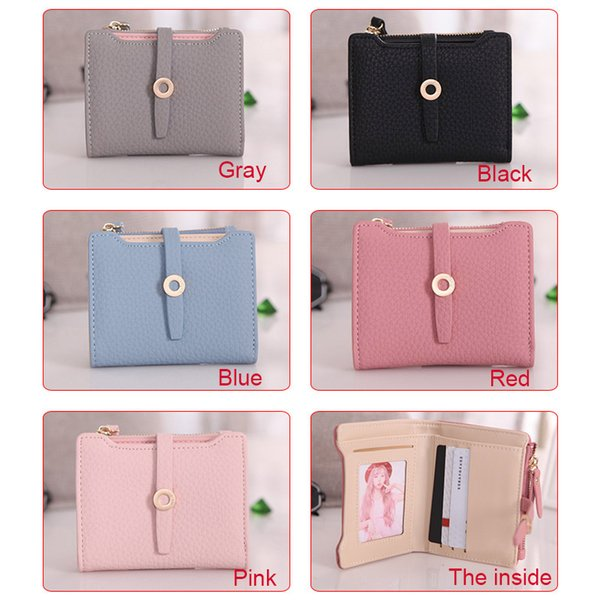 women cute small wallet pu leather girls change clasp purse card holders coin purse msj99 (466237683) photo