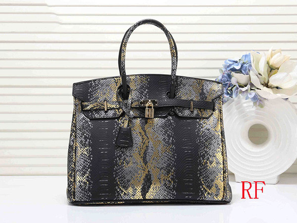 designer handbags h k women 35cm purse bag fashion totes snake pattern purses b k handbag (504639390) photo