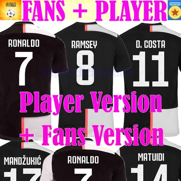 Fan player ver ion ronaldo 2019 2020 champion league occer jer ey dybala 19 20 de ligt football kit hirt men kid et uniform