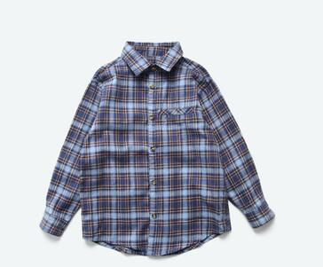 2019 New summer fashion children Blue and green plaid T-shirt Cardigan students boy autumn coat clothes