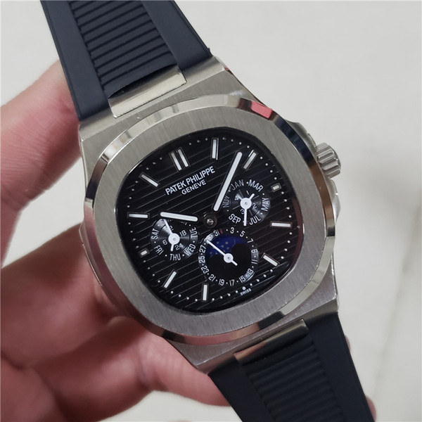 Swiss Watch Japan Miyota Automatic Mechanic Men Watch Stainless Steel Strap Nautilus High Quality Sports Wristwatch Patek watches philippe