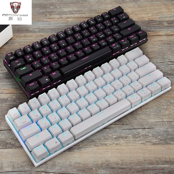 Motospeed Ck62 клавиатура usb Type C Mode механическая клавиатура с подсветкой Rgb Gaming T6190605 фото