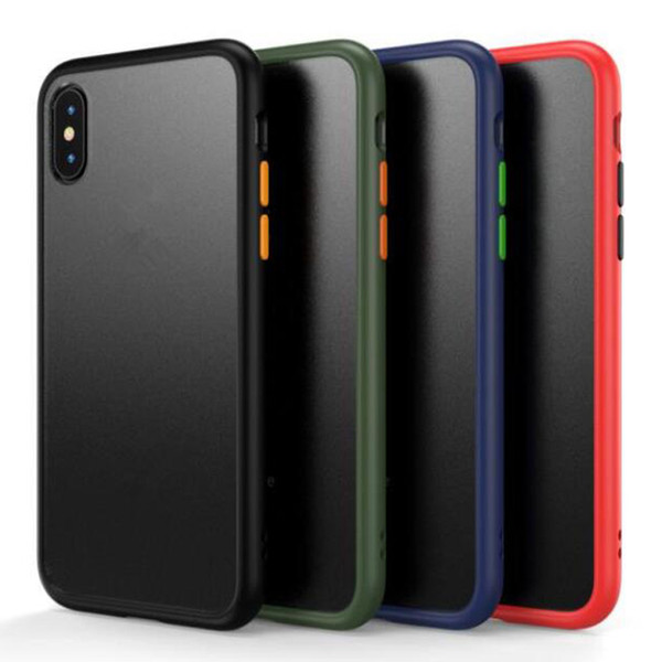 Matte clear fro ted hybrid tpu pc rugged armor ca e for iphone 2019 x  max xr x 8 7 6  am ung  10 plu  5g  10e note 10 pro a10 a30 a50 a70