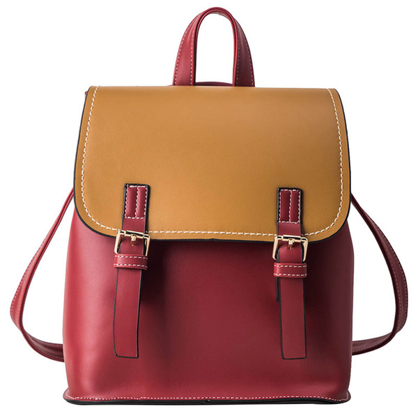 large backpack purse for women fashion leather backpack back pack woman bags bookbags school backpack students (546678777) photo
