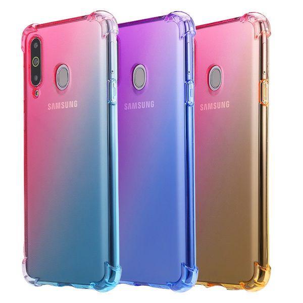 Gradient color tpu phone ca e for am ung a9 a8 a70 a6 a9 a8 tar 10 10e 10 9 note9 note8 iphone xr x max 8 plu