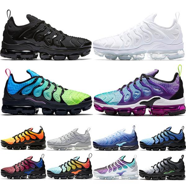 Nike Air Vapormax TN PLUS Max Мужская обувь для женщин BE TRUE Yellow Triple Black White Hyper Red Men Designer Trainer Sport Sn фото