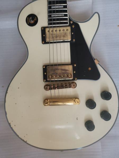 Custom Shop 1959 Heavy Relic White Cream Электрогитара Ebony Накладка, One Piece шеи, Little Pin Мост Золотые Гр фото