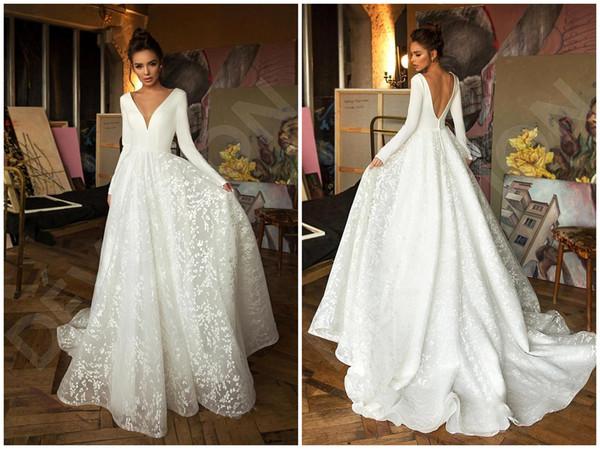 Vestidos de casamento alinhado allanhu