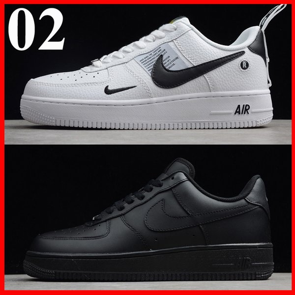 Top men women fashion airlis designer sneakers af1 shoes all white black forces 1 one low red free shipping online