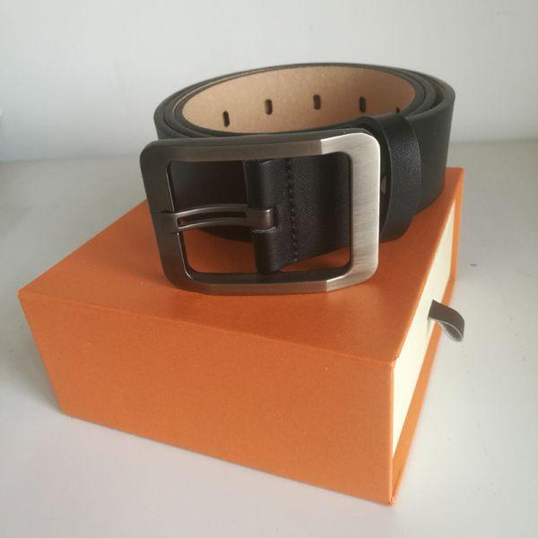Fashion men male belts mens snake belt , women casual jeans business belt,gold silver black smooth buckle female belt with Box