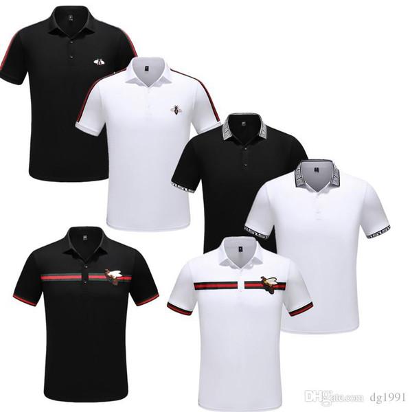 Gg ummer luxury italian t hirt t hirt de igner polo hirt high treet embroidery garter belt bee print clothing men and women brand polo