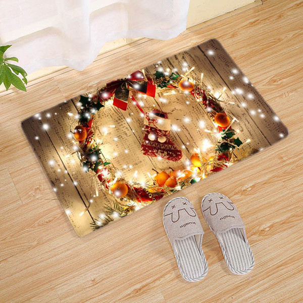 Рождественский фестиваль колокол Снежинка противоскользящий нескользящий ковер коврик для пола ванная комната нескользящий декор новый напольный ковер для гостиной фото
