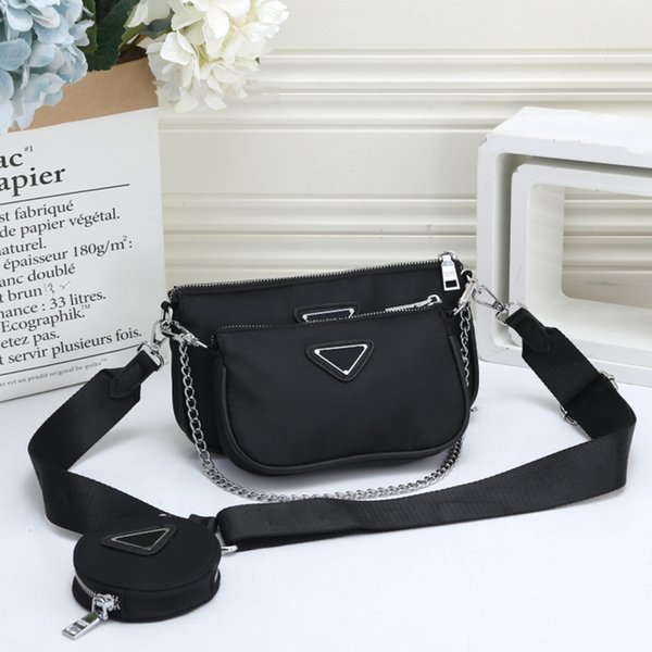 3 pcs woman bag set fashion female purse and handbag four-piece shoulder bag tote messenger purse bag drop shipping (545229960) photo