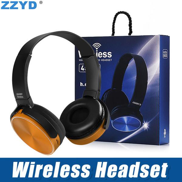 Zzyd 450bt wirele   headphone  bluetooth gaming head et  tereo mu ic player retractable headband  urround  tereo earphone with mic for pc  m