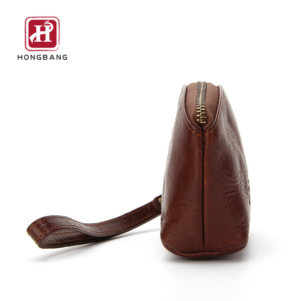 men genuine leather zip coin purse mini wallet portable purse men leather handbags storage bag (530430009) photo