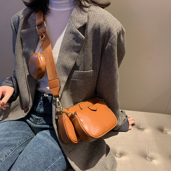 buy 1 get 3 women crossbody bag new fashion semicircle saddle bags leather luxury oil wax handbag ladies shoulder bags and purse (509294768) photo