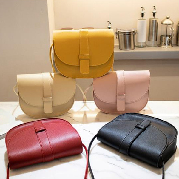 fashion small crossbody bags for women mini pu leather shoulder messenger bag for girl bolsas ladies phone purse candy color bag (528251627) photo