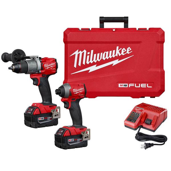 Milwaukee fuel m18 2997 22 18 volt 2 tool hammer drill impact driver combo kit