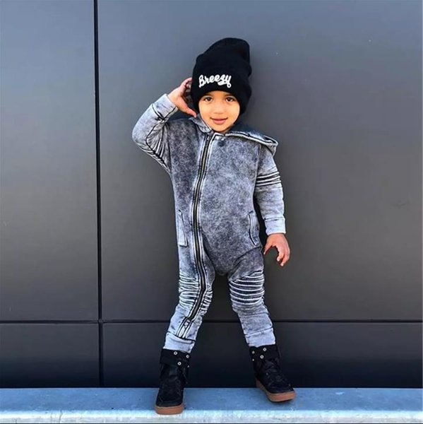 0-3Y дети мальчик девочка джинсовое боди молния комбинезон джинсы леггинсы комбинезон осенняя мода милый теплый тонкий унисекс детский комбинезон фото