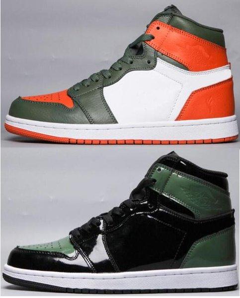 Better quality olefly x 1 green orange white black mia 305 men women ba ketball hoe 1 olefly port neaker with box