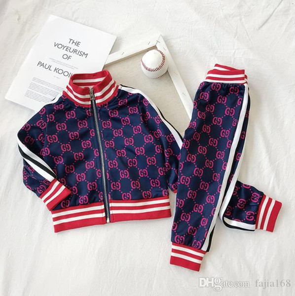 2019 Детская одежда для детей спортивный костюм весна осень комплект Vetement Garcon кардиган детская куртка + брюки одежда для малышей бесплатно Shipping90-130