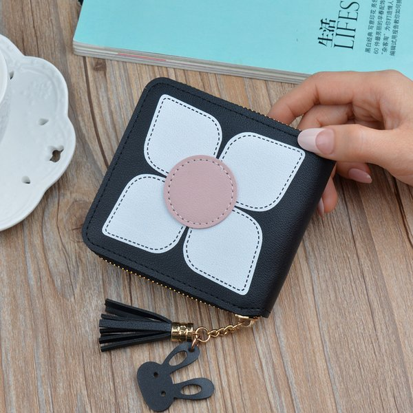 new fashion women stylish bifold wallet girl wallet with card holdermens leather synthetic ms coin purse (478709861) photo