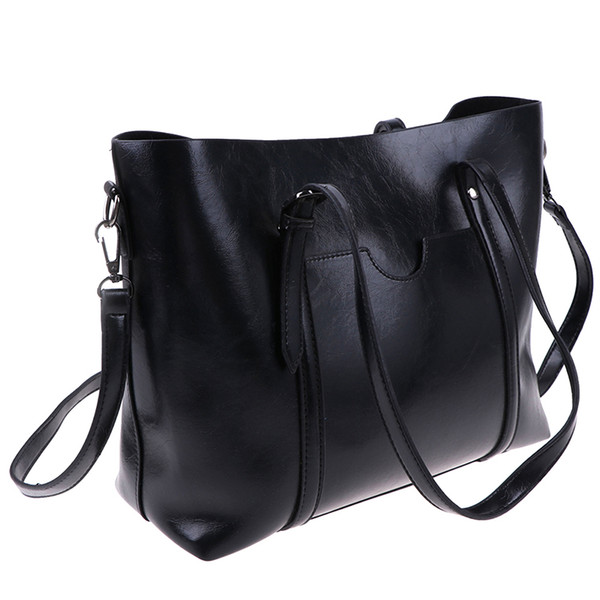 fashion soft leather women handbag elegant ladies hobo shoulder bag messenger purse satchel 4 colors (547088551) photo