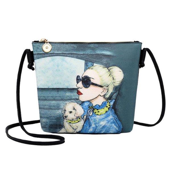 bag girl 2020 fashion single shoulder slant small bag printing purse party pack pu lady (540523363) photo