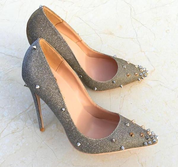 2019 новая бесплатная доставка мода женщины свадебный блеск блестками шипы острым носом туфли на каблуках туфли на шпильках туфли на высоком каблуке туфли на высоком каблуке 12 см 10 см фото
