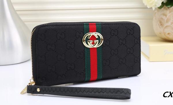 fashion hmbdgucci women long wallets famous pu leather bee wallet single zipper cross pattern clutch girl purse (516504330) photo