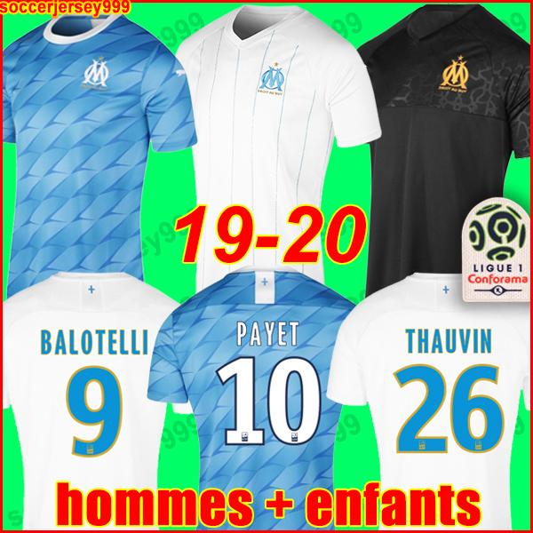 19 20 olympique de mar eille occer jer ey om jer ey 2019 2020 maillot de foot payet thauvin football hirt uniform men kid away third