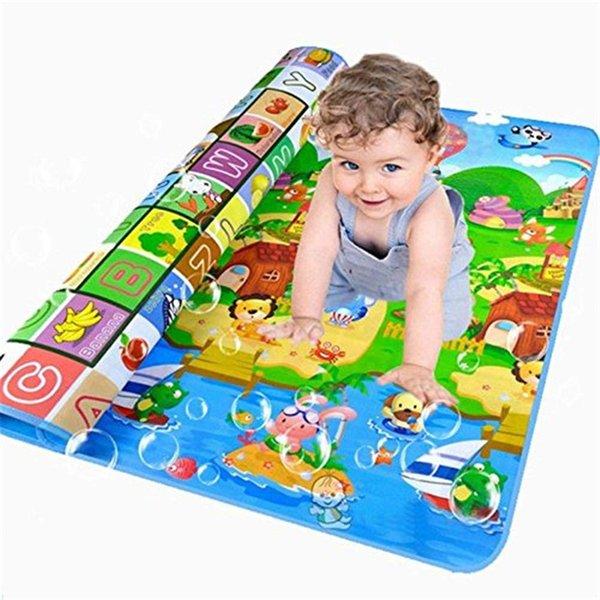 Обучающие и интеллектуальное совершенствование Младенец малыша младенца малышей Crawl Play Game Пикник Ковер животных алфавитом Farm Mat фото