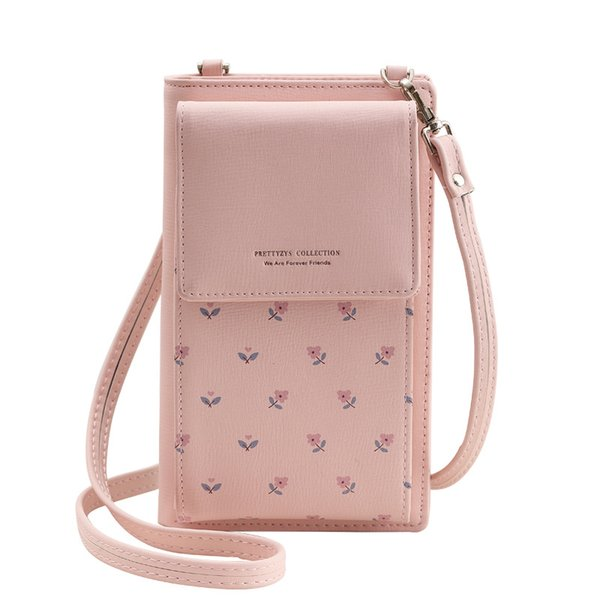 fashion printing flower women wallet multifunction phone wallet women mini shoulder bags young girl purse brand crossbody bags (507178024) photo
