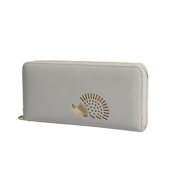 2019 discount only today leather wallet for women pink long fashion hollow hedgehog creative female clutch bag coin card purse (486289631) photo