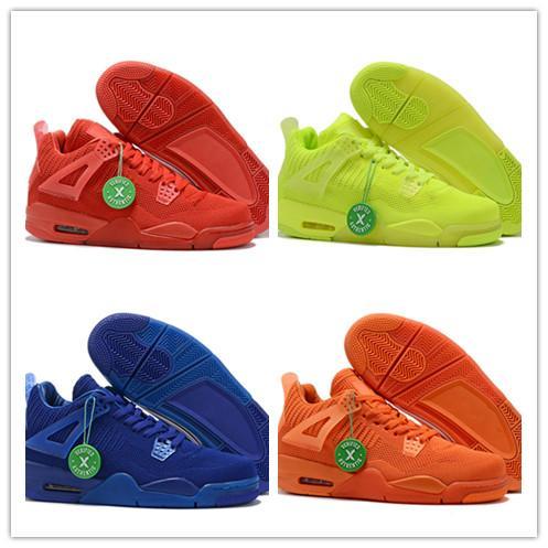2019 new fa hion jumpman 4 iv red blue green orange ba ketball hoe for men weave trainer 4 port neaker ize 40 46