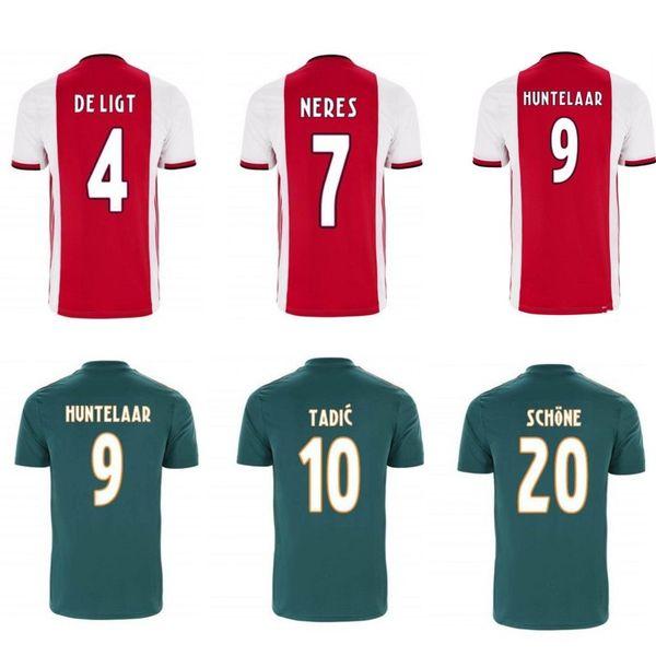 2019 2020 ajax kids kits jerseys NERES ZIYECH HUNTELAAR TADIC DOLBERG soccer jersey kids 19 20 home away football Shirts camisa de futebol