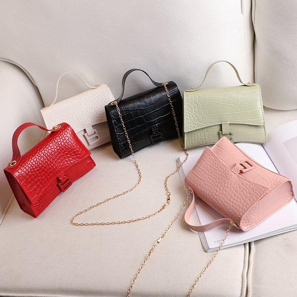 crocodile pattern handbag woman bag 2020 summer new ladies crossbody shoulder bag mobile phone coin purse girl chain small (548690308) photo